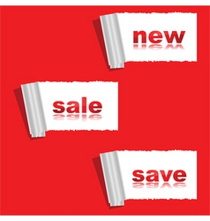 New save sale stickers vector