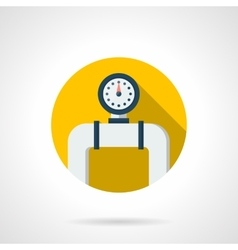 Pipe manometer round color flat icon vector