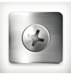 Screw icon vector image