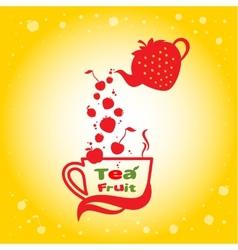 Tea fruit vector image vector image