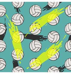 Volleyball seamless pattern for boy Sports balls vector image vector image