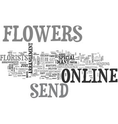Why not send flowers online text word cloud vector