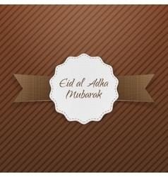 Eid al-adha mubarak paper tag vector