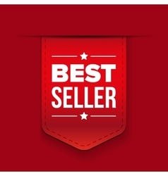 Best Seller red ribbon vector image