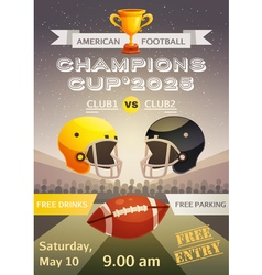 American football sport poster vector