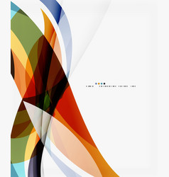 modern geometric wavy shapes on light vector image