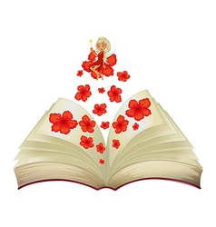 Book Flower Fairy vector image