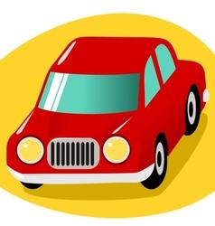Red cartoon car vector