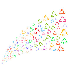Source stream of recycle triangle vector