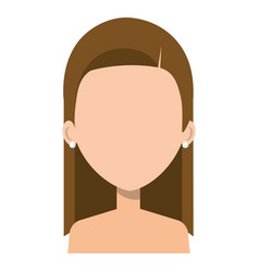 Beautiful and young woman shirtless character vector