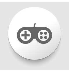 White circle icon gamepad vector