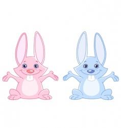 baby bunnies vector image