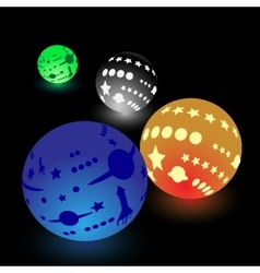 Glowing balls vector