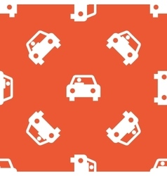 Orange car pattern vector