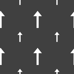 Direction arrow up icon sign seamless pattern on a vector