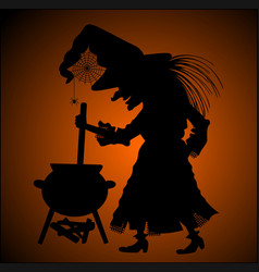 silhouette of witch vector image
