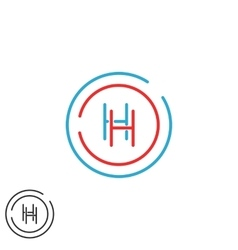 Letter h logo monogram initials hh intersection vector