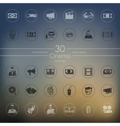 Set of cinema icons vector