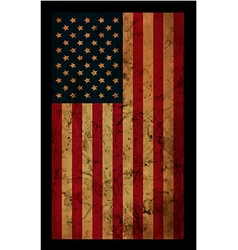 American grunge flag an american grunge flag for a vector