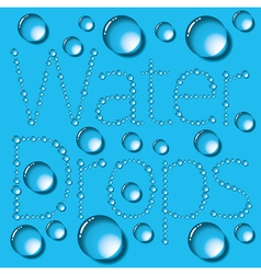 Water Drop Words vector image