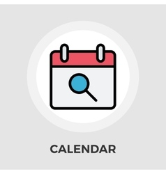 Calendar with search vector image