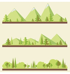 Mountain landscapes vector