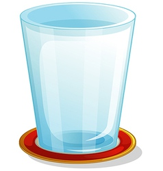 A clear drinking glass vector