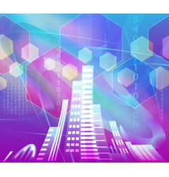 abstract background city vector image