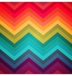 Abstract rainbow zig-zag warped stripes ethnic vector