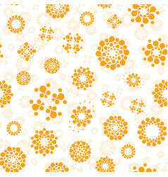 abstract sunny seamless circles design pattern vector image vector image