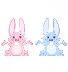 baby bunnies vector image
