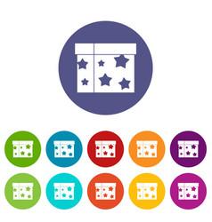 box magician set icons vector image vector image