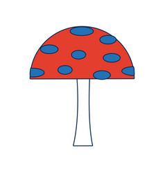 Cartoon mushroom educational game for kids vector