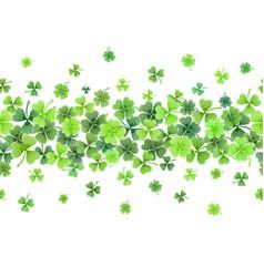 clover leaves frame vector image vector image