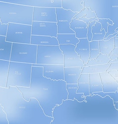 Creative map of the united states of america vector