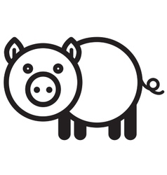 Cute animal pig - vector image vector image