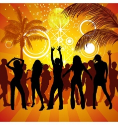 exotic party vector image vector image
