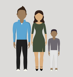 family cartoon icon vector image vector image