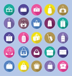 Fashion bag collection in flat style vector