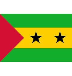 Flag of Sao Tome and Principe vector image vector image