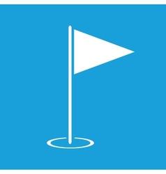 Hole Course white icon vector image