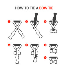 how to tie a bow tie instructions vector image