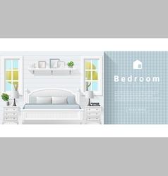 Interior design modern bedroom background 9 vector