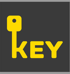 key logo with letter k vector image vector image
