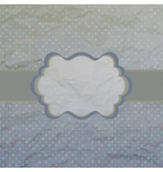 Old card design blue vintage frame EPS 8 vector image vector image