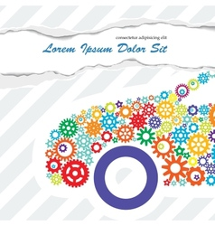 Poster of the Car Gears vector image vector image