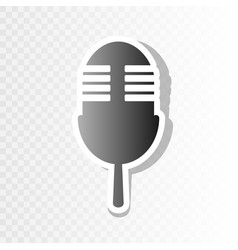 Retro microphone sign new year blackish vector
