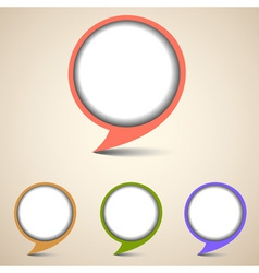 Round bubbles for speech vector image vector image