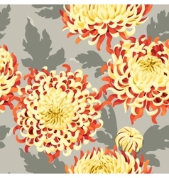 Seamless japanese chrysanthemum vector image vector image