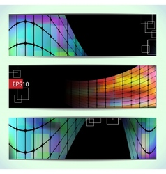 Set of abstract hi-tech banners vector image vector image